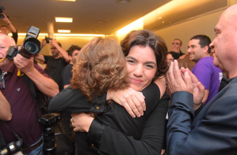 Tamar Zandberg after being elected leader of Meretz (photo credit: AVSHALOM SASSONI/ MAARIV)