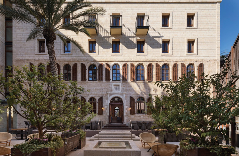 The Setai 120-room hotel combines five structures, including remnants of a Crusader fortress (photo credit: ASSAF PINCHUK)