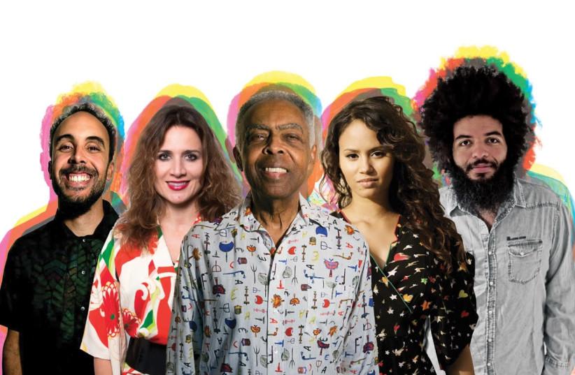 Gilberto Gil and his band (photo credit: Courtesy)