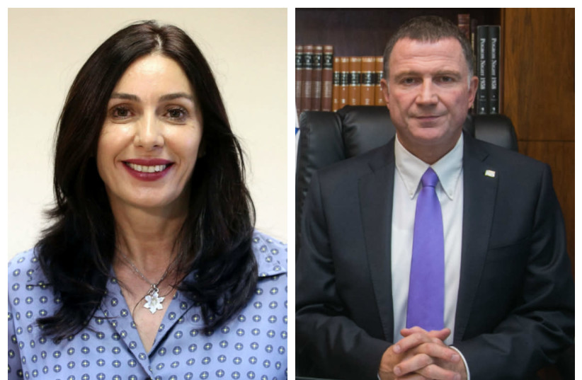 Culture Minister Miri Regev (L) and Knesset Speaker Yuli Edelstein (R). (photo credit: MARC ISRAEL SELLEM)