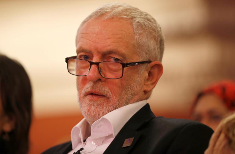 Britain's opposition Labour Party leader, Jeremy Corbyn (photo credit: PETER NICHOLLS/REUTERS)