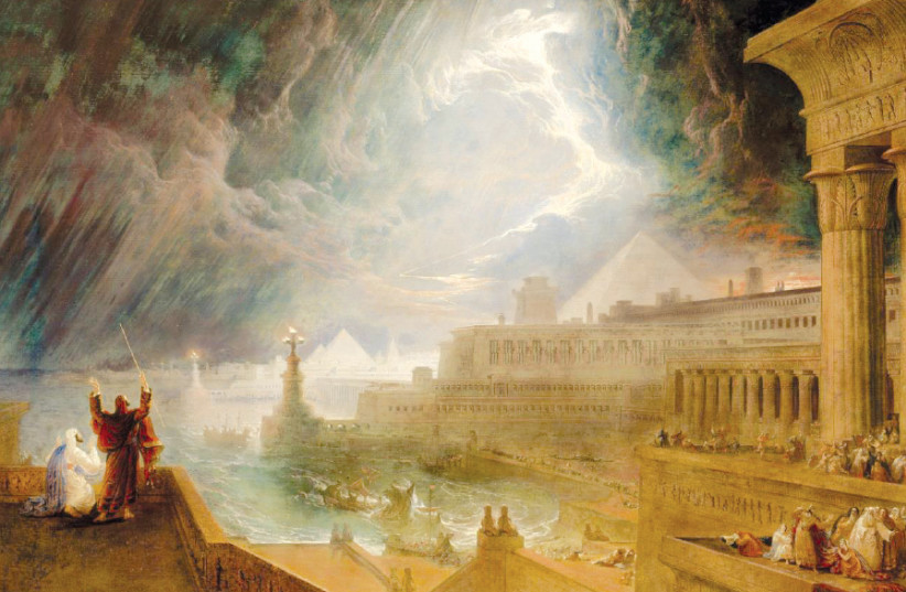 'THE SEVENTH Plague of Egypt' (1823) by English Romantic painter John Martin (photo credit: Wikimedia Commons)