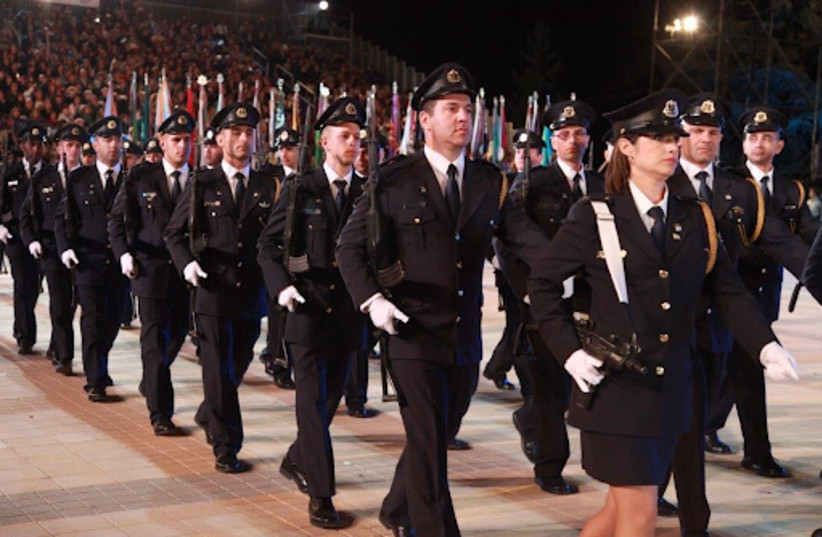 The Knesset Guard marching in past Independence Days (photo credit: KNESSET SPOKESPERSON'S OFFICE)