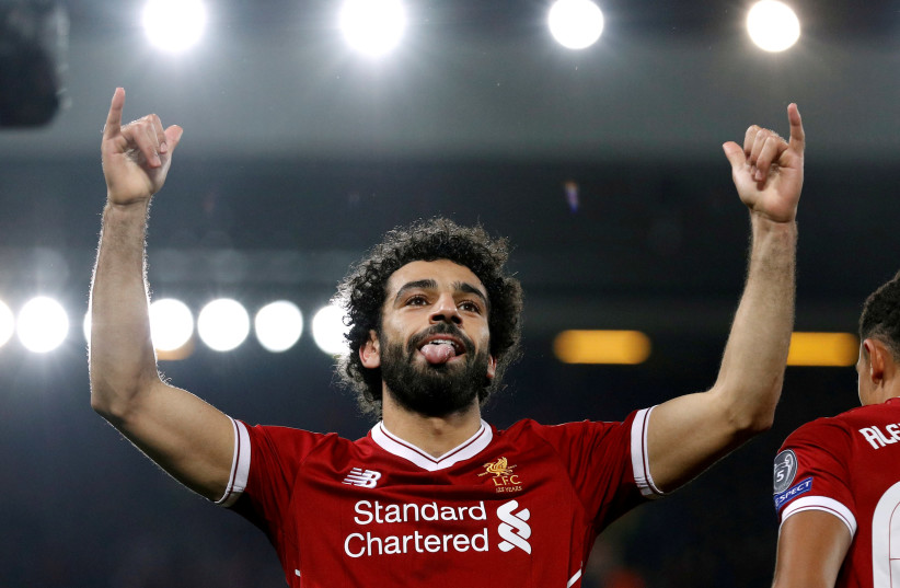Egyptian soccer star playing for Liverpool, Mohamed Salah (photo credit: PHIL NOBLE/REUTERS)