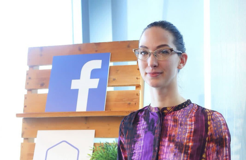 Counter-terrorism expert Dr. Erin Saltman, who helps oversee a team of 7,500 people who review questionable Facebook pages and posts (photo credit: AVRAHAM ASCAF)