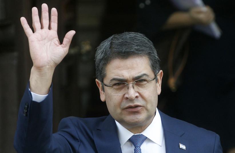 Honduras's President Juan Orlando Hernández (photo credit: CLAUDIO REYES / AFP)