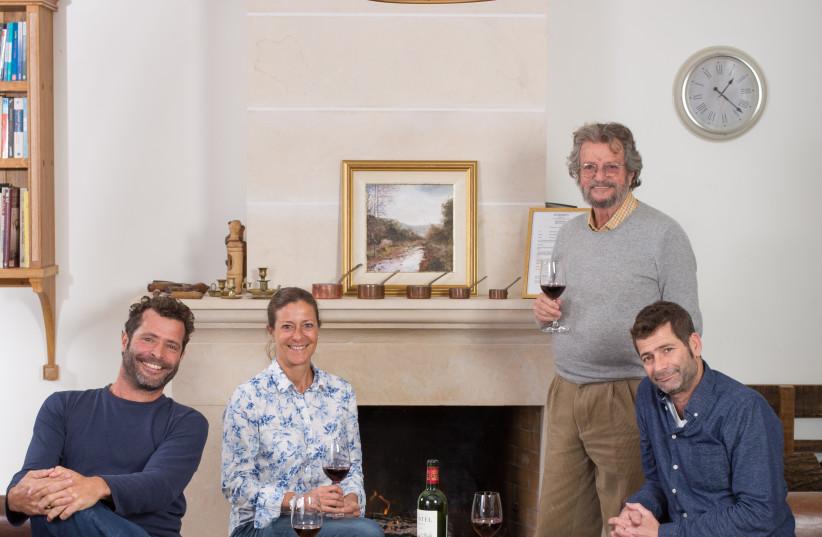 The Ben Zaken family, owners of Domaine du Castel. L to r: Ariel, Ilana, Eli and Eytan (photo credit: ELAD BRAMI)