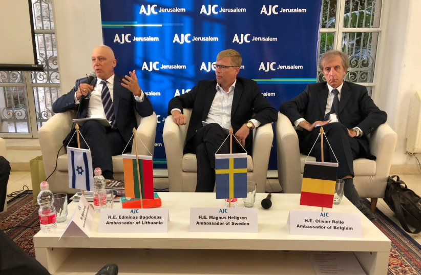 Lithuanian Ambassador to Israel explains how foregin diplomats from Japan and the Netherlands helped to save Jewish lives during the holocaust (photo credit: SHAY ZAVDI)