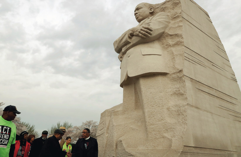 A STATUE of Martin Luther King. Many Jews supported the Civil Rights movement in the US (photo credit: REUTERS)