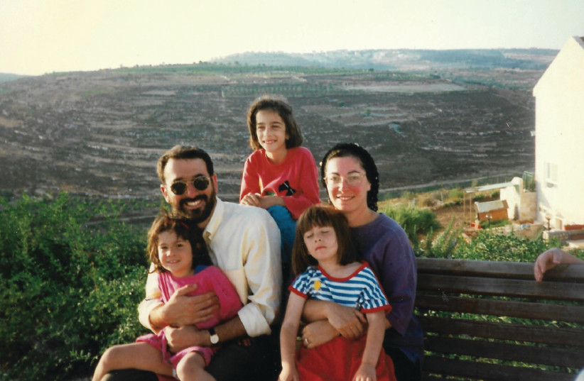 The Samson family just after making aliya in 1996 (photo credit: Courtesy)