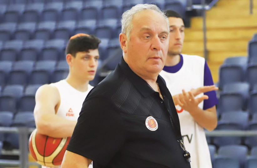 After almost two years away, coach Tzvika Sherf will make his return to the BSL tonight when he guides Maccabi Rishon Lezion in its game against Hapoel Eilat (photo credit: DANNY MARON)