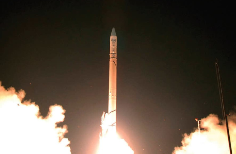A satellite launch (photo credit: REUTERS)