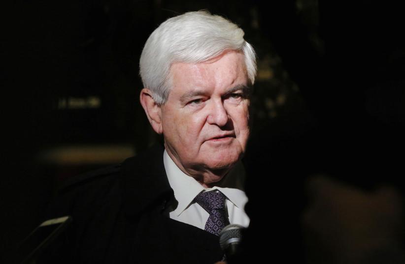 Former House of Representatives Speaker Newt Gingrich (photo credit: REUTERS/LUCAS JACKSON)