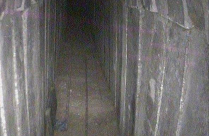 Tunnel discovered in Gaza on the weekend of April 14, 2018 (photo credit: IDF SPOKESMAN'S UNIT)