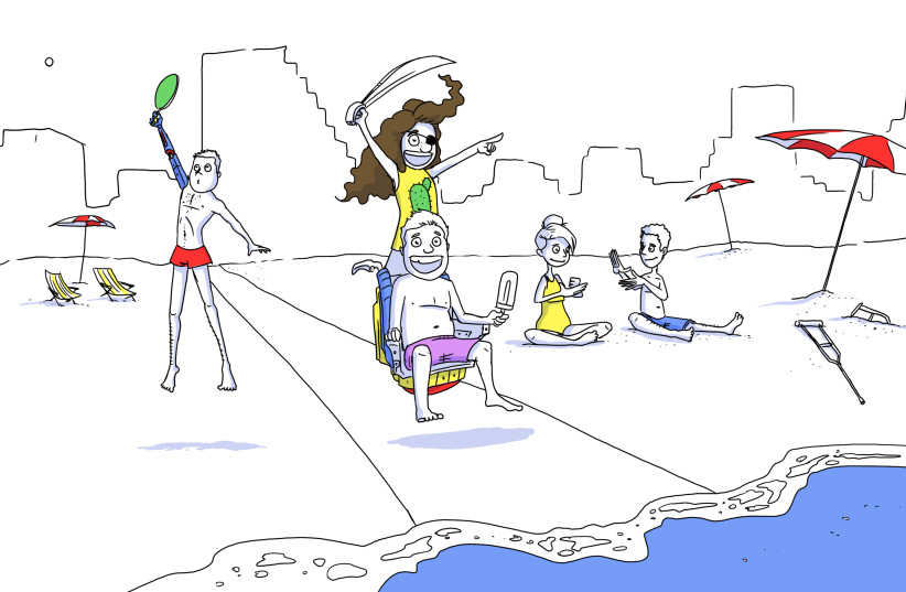 Disability inclusion in Israel by White Animation (photo credit: WHITE ANIMATION)