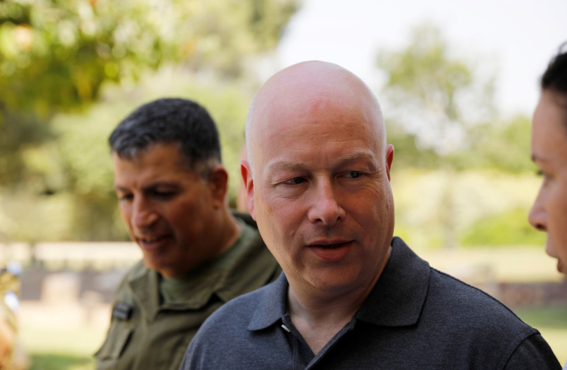 U.S. Envoy for Middle East negotiations Jason Greenblatt on a visit in Israel (photo credit: AMIR COHEN/REUTERS)