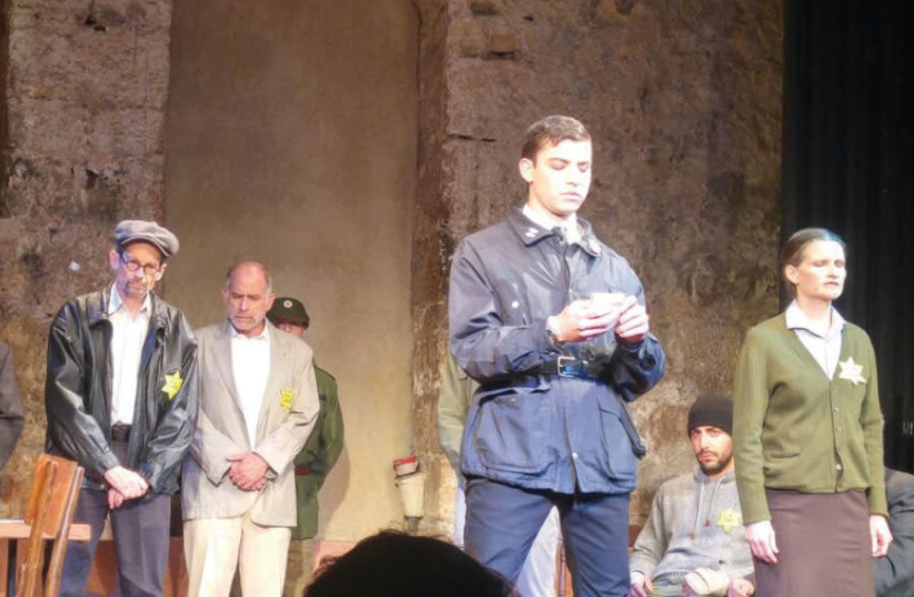 A scene from 'The Statement,' a new play in English at The Khan Theater (photo credit: ROBIN COHEN)