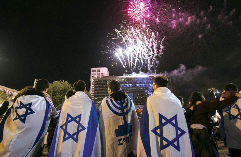 Fireworks in honor of Israel's Independence Day  (photo credit: REUTERS)