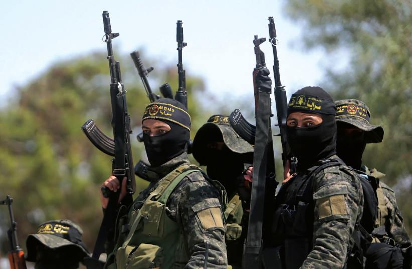 Hamas members in Gaza  (photo credit: REUTERS)