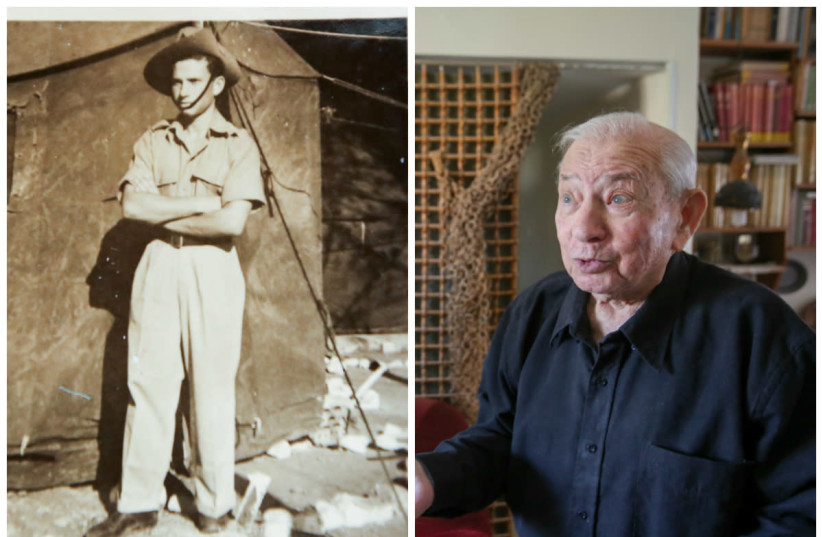 Chanan Rapaport in his Haganah days (left) and today (right). (photo credit: COURTESY/MARC ISRAEL SELLEM)