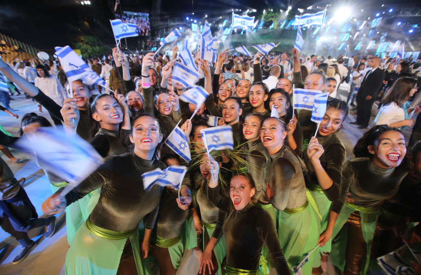 Performers happy to celebrate Israel's 70th year of Independence (photo credit: MARC ISRAEL SELLEM)