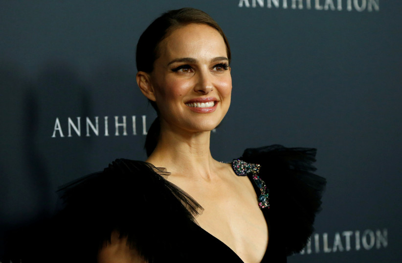 "Natalie Portman poses at the premiere for ""Annihilation"" in Los Angeles, California, US, February 13, 2018. (photo credit: REUTERS/MARIO ANZUONI)"