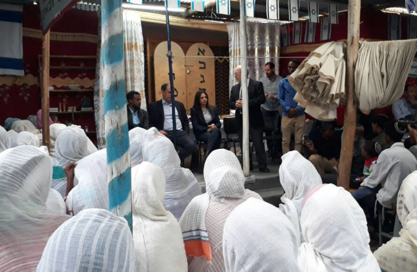 Justice Minister Ayelet Shaked visits in Ethiopia (photo credit: THE STRUGGLE FOR ETHIOPIAN ALIYAH)