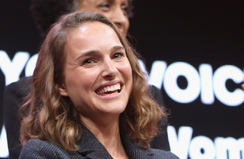 Natalie Portman speaks onstage during The 2018 MAKERS Conference at NeueHouse Hollywood on February 5, 2018 in Los Angeles, California.  (photo credit: RACHEL MURRAY / GETTY IMAGES NORTH AMERICA / AFP)