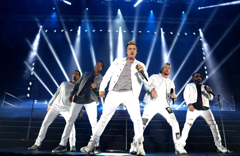 The Backstreet Boys in concert, Rishon LeZion, April 22, 2018. (photo credit: ORIT PNINI)