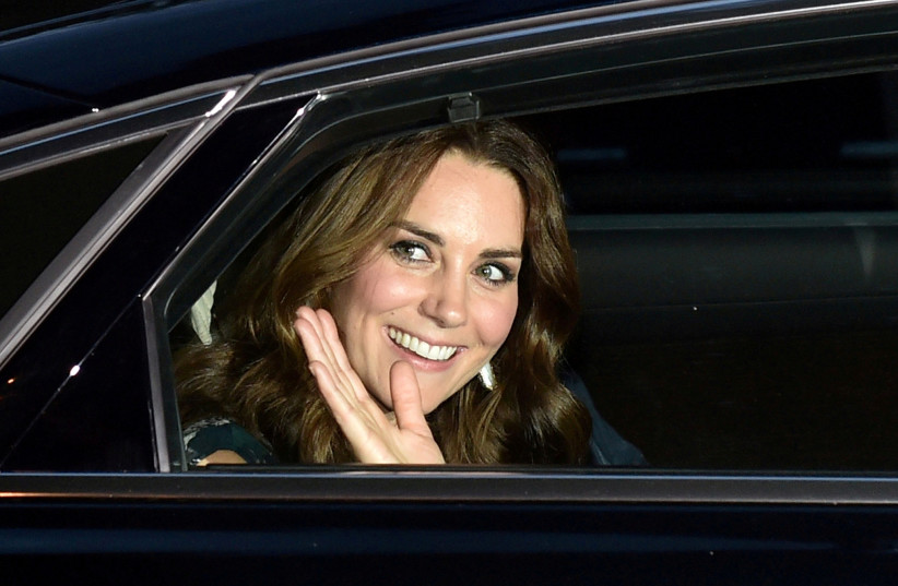 Britain's Princess Kate, the Duchess of Cambridge, attends a reception in Berlin Germany, July 20, 2017.  (photo credit: REUTERS/BRITTA PEDERSEN)