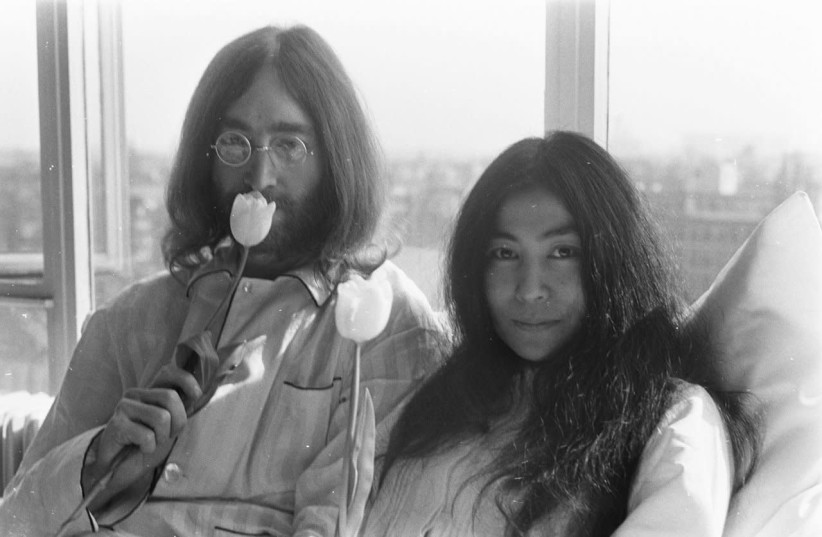 John Lennon and Yoko Ono (photo credit: Wikimedia Commons)
