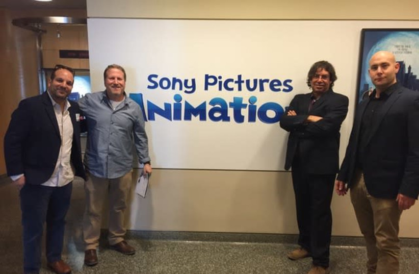 Left to right: Oded Turgeman, Rick Mischel of Sony Pictures Animation, Yoram Honig of the Jerusalem Film and TV fund and Udi Ben-Dror of the Jerusalem Development Authority (photo credit: JDA)