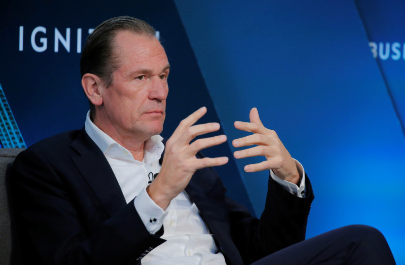 Mathias Dopfner, CEO of Axel Springer SE, speaks at the 2017 Business Insider Ignition: Future of Media conference in New York, U.S., November 30, 2017 (photo credit: LUCAS JACKSON/REUTERS)