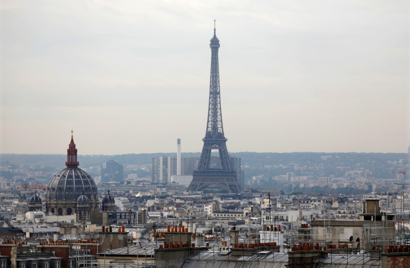 General view of the Eiffel Tower in Paris, France (photo credit: CHARLES PLATIAU / REUTERS)