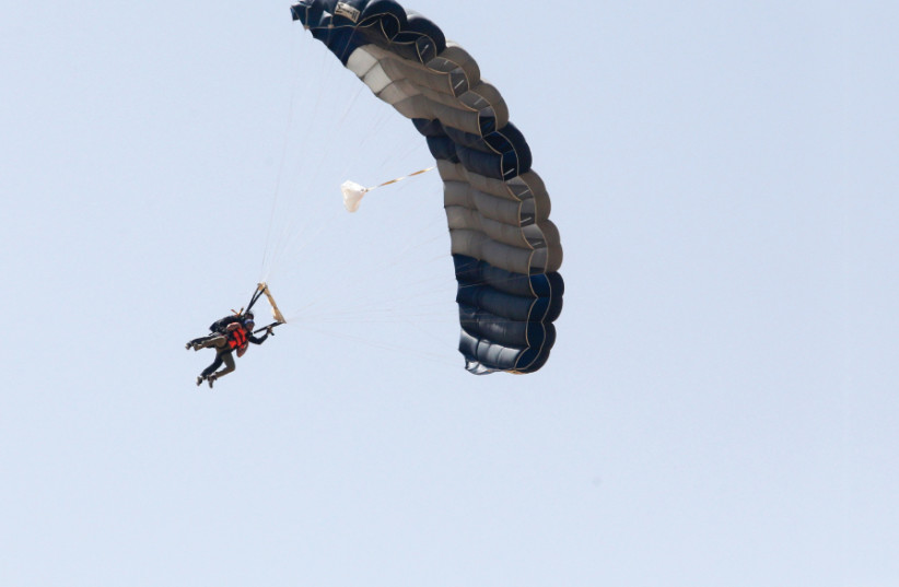 Dozens of skydivers raise money for ALYN Hospital in an unconventional way (photo credit: MARC ISRAEL SELLEM/THE JERUSALEM POST)
