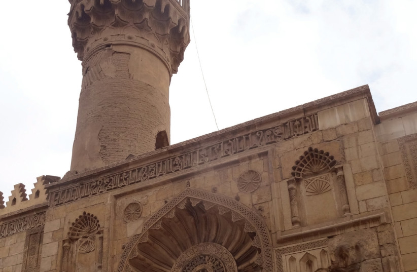 The façade of Al-Aqmar Mosque, built in 1125, after renovation by Herz (photo credit: GUNDULA MADELEINE TEGTMEYER)