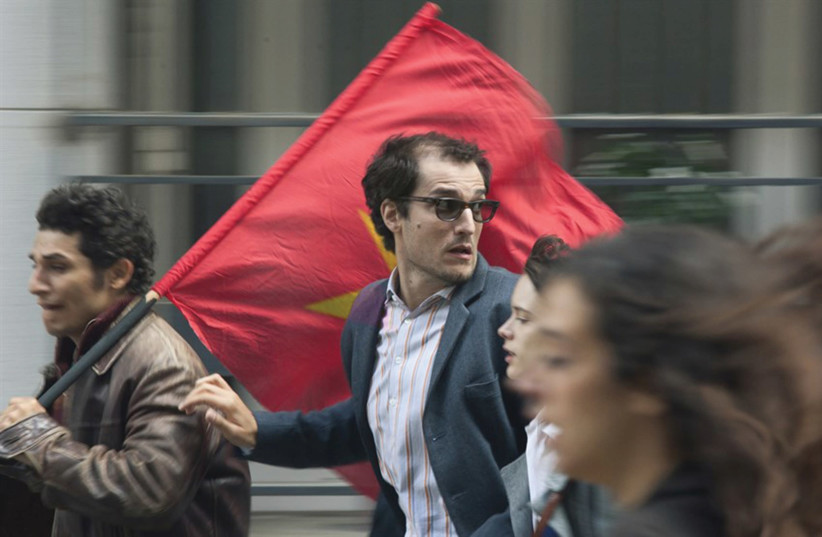 LOUIS GARREL stars in 'Godard Mon Amour,' about the French political protests of 1968. (photo credit: MAYA ANAND/COHEN MEDIA GROUP)