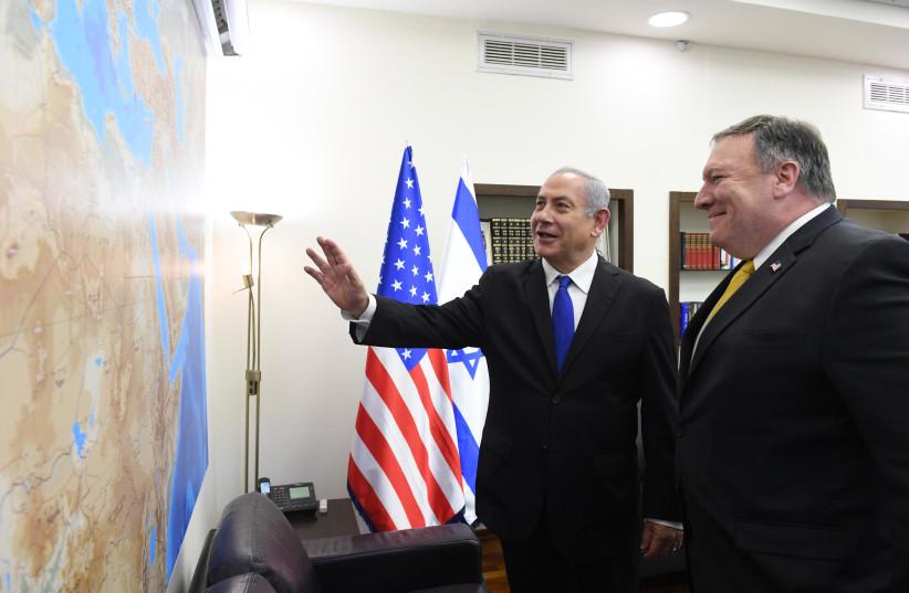 Prime Minister Benjamin Netanyahu and US Secretery of State Mike Pompeo  (photo credit: HAIM ZACH/GPO)