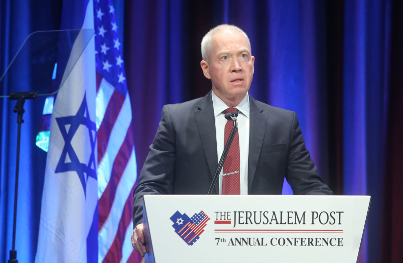 Minister of Construction Yoav Gallant at the 7th Annual JPost Conference in NY (photo credit: MARC ISRAEL SELLEM)