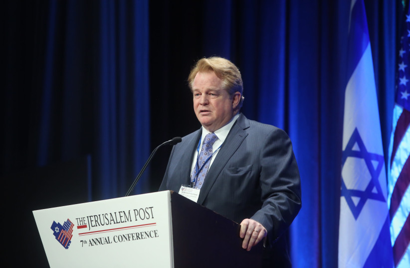 Gordon Robertson, CEO, Christian Broadcasting Network at the 7th Annual JPost Conference in NY (photo credit: MARC ISRAEL SELLEM)