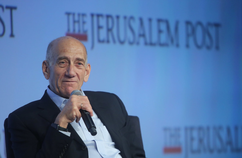 Former prime minister Ehud Olmert at the 7th Annual JPost Conference in NY (photo credit: MARC ISRAEL SELLEM)