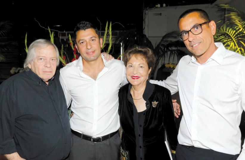 From left: Moshe Tzur, Ziv Yaacobi, Raya Strauss and Ilan Kapon (photo credit: RAFI DELUYA)