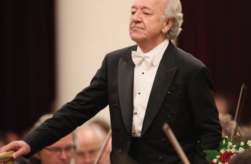 Director Maestro Yuri Temirkanov of the St. Petersburg Philharmonic Orchestra (photo credit: STAS LEVSHIN)