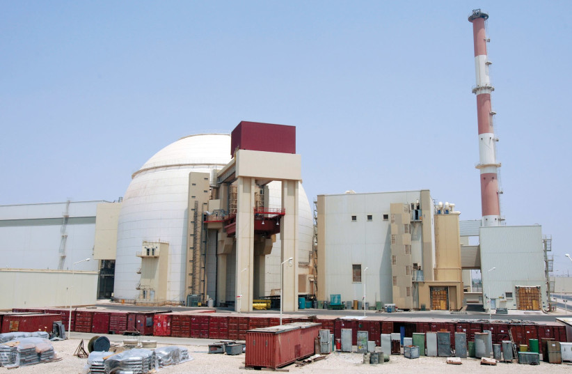A VIEW of the Bushehr main nuclear reactor, 1,200 km. south of Tehran, in 2010 (photo credit: REUTERS)