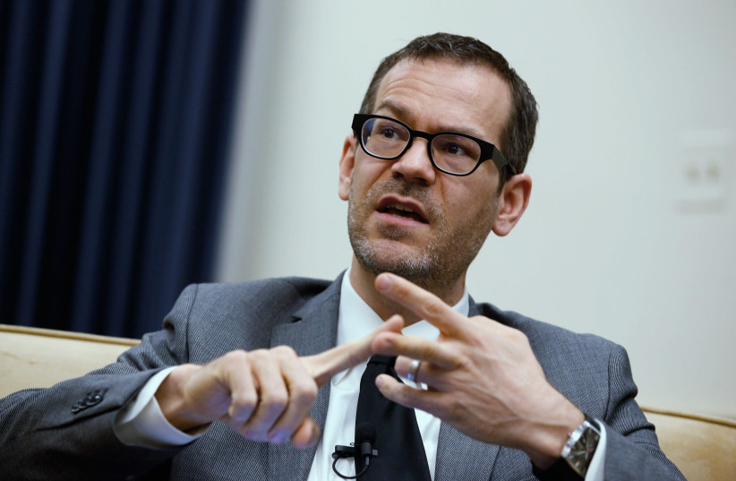 Colin Kahl participates in a panel discussion about Iran's nuclear program on Capitol Hill, February 21, 2012 in Washington, DC. (photo credit: CHIP SOMODEVILLA / GETTY IMAGES NORTH AMERICA / AFP)