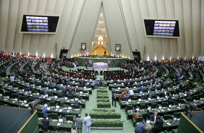 A view of the parliament in Tehran, Iran (photo credit: NAZANIN TABATABAEE YAZDI/ TIMA VIA REUTERS)