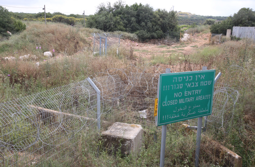 A military zone on the border between Israel and Lebanon (photo credit: MARC ISRAEL SELLEM/THE JERUSALEM POST)