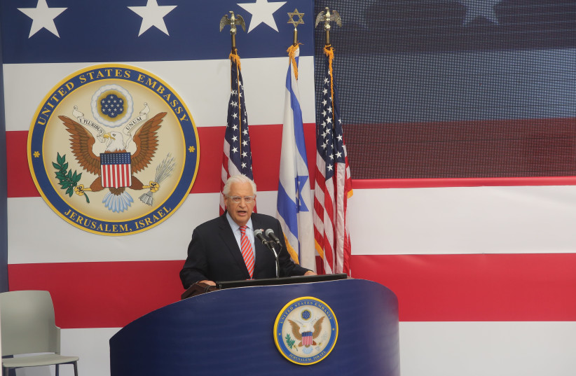 U.S. Ambassador to Israel David Friedman Welcomes public to the New embassy in Jerusalem (photo credit: MARC ISRAEL SELLEM)