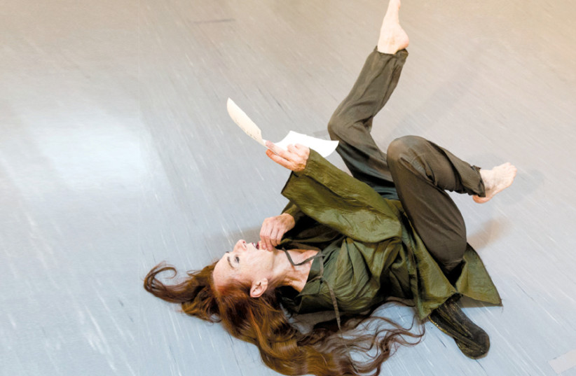 Rina Schenfeld dancing in a 2018 production (photo credit: RONI DADON)