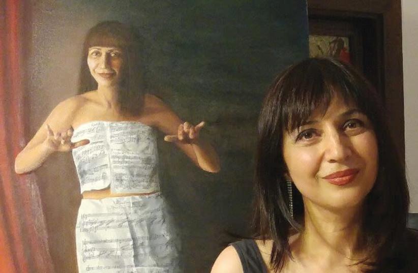 "MEGI ROME'S self-portrait: ""Art saved my life."" (photo credit: Courtesy)"